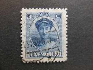 A4P26F52 Letzebuerg Luxembourg 1921-26 50c used