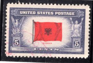 918 Albania, used