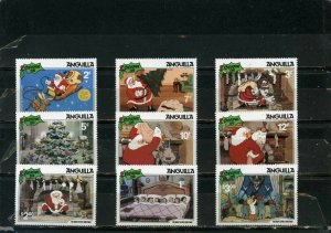 ANGUILLA 1981 WALT DISNEY CHRISTMAS SET OF 9 STAMPS MNH
