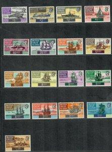 Virgin Islands Sc#206-222 M/NH/VF, Ships, Cv. $32.05