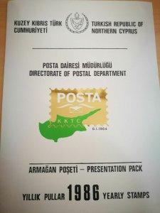 1986 PRESENTATION PACK (11 pics) MNH INCLUDING STAMPS - SET TURKISH CYPRUS