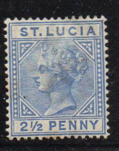 St Lucia Sc 31a 1883 2 1/2d ultra Victoria stamp mint die A