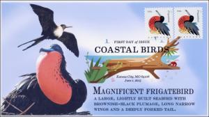 SC 4994, 2015, Coastal Birds, Magnificent Frigatebird, FDC, DCP, 15-168