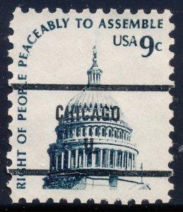 Chicago IL, 1591-81 Bureau Precancel, 9¢ Capitol Dome