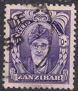 Zanzibar 1952 - 55 QE2 50ct Violet Sultan Khalifa Bin Harub SG 347 ( L888 )