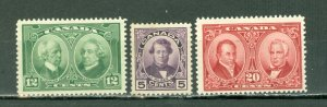 CANADA 1927 PRIME MINISTERS #146-48 SET...MINT...$45.00