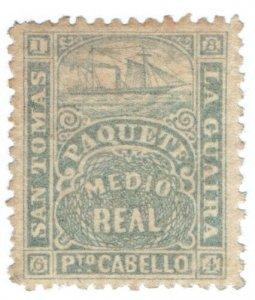 (I.B) San Tomas : La Guaira Paquete Mail (Medio Real)