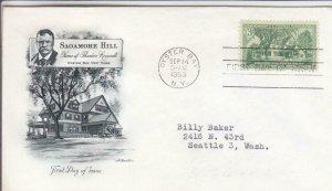 1953, Sagamore Hill, Artmaster, FDC (D14826)