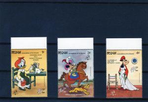 Bequia 1989 Disney French Revolution Short Set (3) MNH