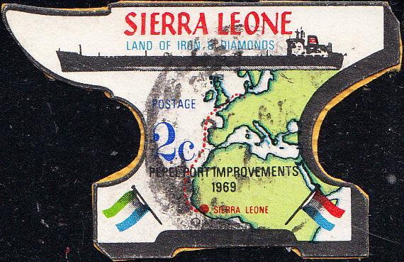 Sierra Leone #376  Used on Piece