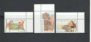 NAMIBIA:  NEW ISSUE /**  BIG CATS  **/ Set of 3 /  MNH.