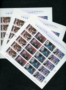 US SCOTT 3840-43 American Choreographers 3 Full Mint NH Panes of 20 WHOLESALE