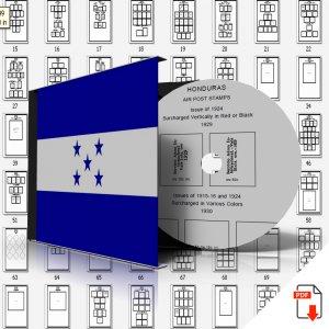 HONDURAS STAMP ALBUM PAGES 1865-2011 (261 PDF digital pages)