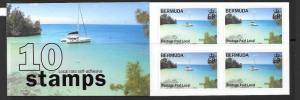 BERMUDA SGSB8 2008 BOOKLET CONTAINING PANE 1014a MNH