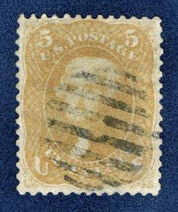 [0199] 1867 Scott#67 5c buff used cv:$750 (Little thin)