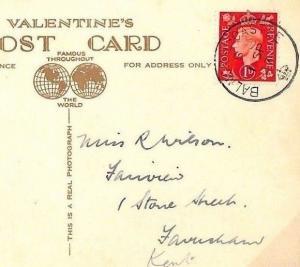 AG160 1937 GB ROYALTY *Balmoral Castle* Crown CDS Postmark RP Postcard Scotland