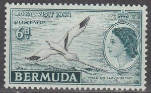 Bermuda #163 F-VF Unused  (S181)