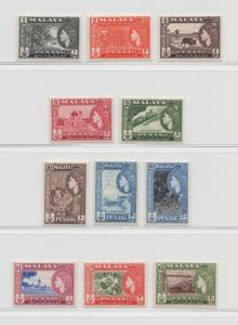 Malaya Penang - 1957 - SG 44-54 - MNH