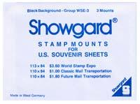 Mounts Showgard,world stamp expo (3ea. Black) (00709B)