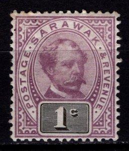Sarawak 1888-97 Sir Charles Brooke Definitive, 1c [Unused]