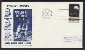 US 1371 Apollo 8 Dow Unicover Label FDC