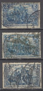 COLLECTION LOT OF #1158 GERMANY  # 93 * 3 1905 CLEARANCE STUDY