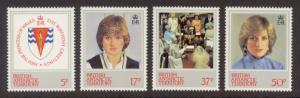 British Antarctic Territory Sc#  92-5 MNH Princess Diana