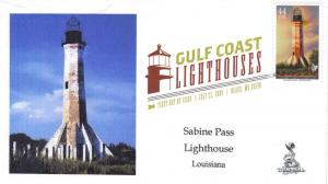 Gulf Lighthouses FDC, from Toad Hall Covers!   (#4 of 5)