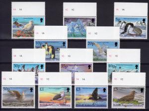 British Antarctic Territory 1998 Sc#263/274 BIRDS Set (12) MNH