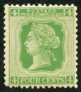 Prince Edwards Is  SG39 4c Yellow-green U/M Cat 12 pounds