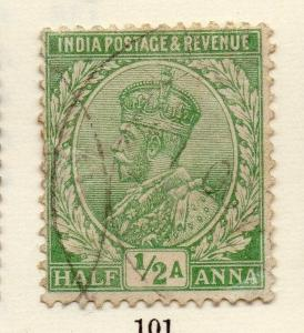 India 1911 Early Issue Fine Used 1/2a. 266001