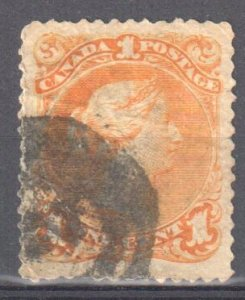 Canada  #23 VF Used Large Queen  C$250.00 +++