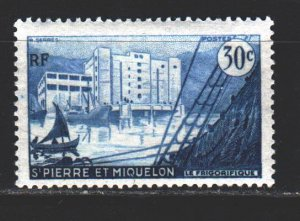 Saint Pierre and Miquelon. 1956. 375 from the series. Sailboat, fridge. MNH.