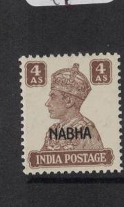 India Nabha SG 114 MNH (5dpg)