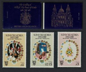 BVI Charles and Diana Royal Wedding 3v Booklet Inverted stamps SG#SB1var