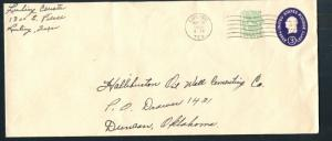 US Scott's # U540c 3+1 Cent - Washington - No. 10 Envelope - Used - Die 5