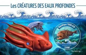 TOGO - 2019 - Deep Sea Creatures - Perf Souv Sheet - M N H