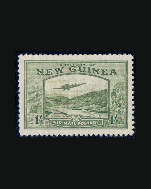 VINTAGE:NEW GUINEA  1939 OG BH LH 1 W LHR  SCOTT #C46-55 $97.25 LOT #1103C