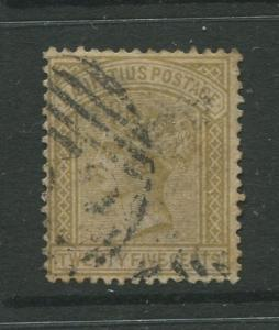 STAMP STATION PERTH: Mauritius #64 FU 1880  Single 25c Stamp