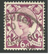 Great Britain - Scotland #3, Queen Elizabeth, Used**
