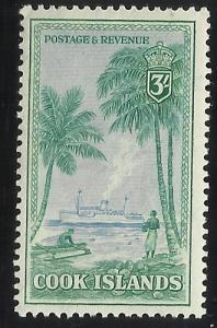 Cook Islands 140 3/- MNH VF