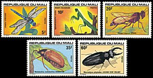 Mali 280-284, MNH, Insects