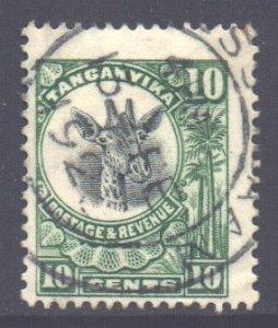 Tanganyika Scott 12 - SG75, 1922 Giraffe 10c used