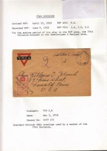 1918, AEF in BEF: FPO 2. K., 77th Div.,See Remark (M3908)