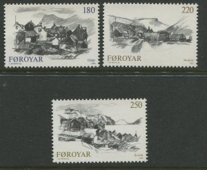 STAMP STATION PERTH Faroe Is. #83-85 Pictorial Definitive Issue MNH 1982 CV$2.50