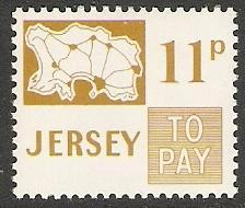 1975 Jersey Scott J17 Map of Jersey MNH