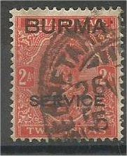BURMA, 1937, used 2a, Overprinted, Scott 5