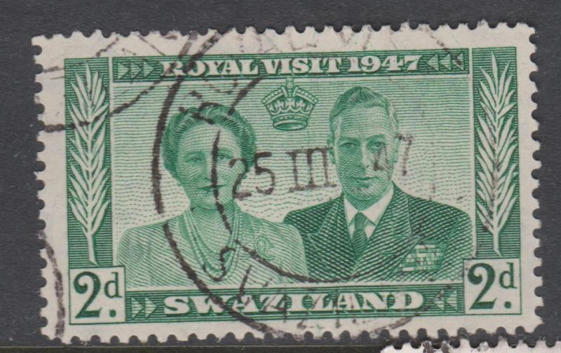 Swaziland 1947 Royal Visit Sc#45 Used
