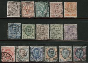 Italy Scott 76-91 Complete 1901-1926 set of 16 CV$50