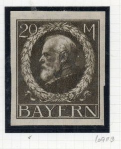 Bayern 1914 Imperf Early Issue Fine Mint Hinged 20M. NW-10729